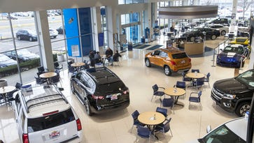 Showroom of Pine Belt Chevrolet on Route 88 in Lakewood. Pine Belt Chevrolet is celebrating its 80th Anniversary.