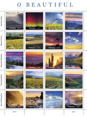 A series of new stamps the U.S. Postal Service is issuing,
