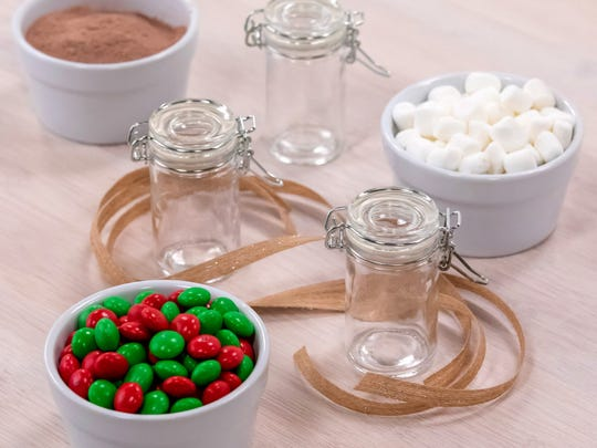 Ingredients needed for the hot cocoa shots.