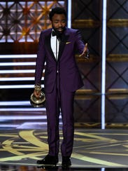 Donald Glover accepts the award for outstanding directing