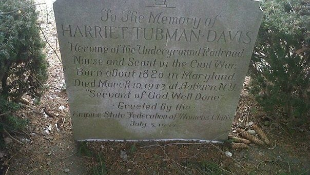 Harriet Tubman, conductor of the Underground Railroad, is buried in upstate Auburn, N.Y., where she spent the last 50 years of her life.