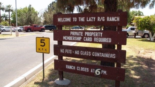 The Republic and Gazette owned a private park for employees called the Lazy R&G Ranch.