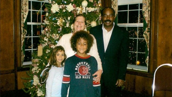 The Dobson family at Christmas in 2008.