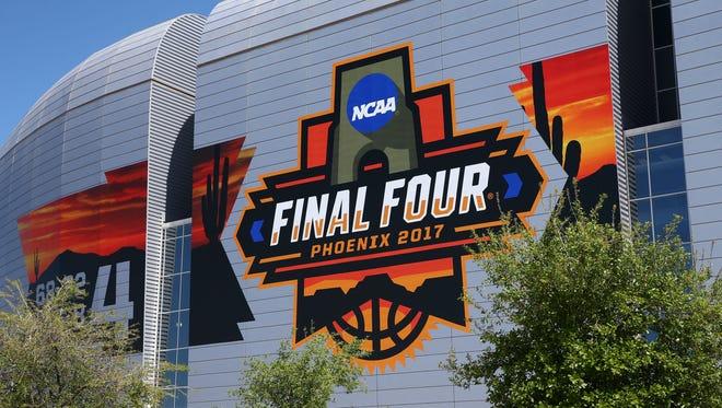 University of Phoenix Stadium hosts its first Final Four on Mar. 24, 2017 in Glendale, Ariz.