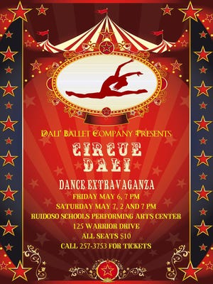Cirque Dali will feature tap, jazz, ballet, hip hop and more. Performances Friday and Saturday evening plus a Saturday matinee.