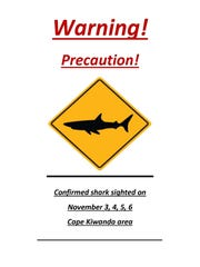 Police warning about recent shark sightings at Cape Kiwanda.