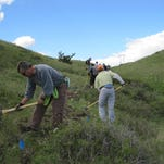 Volunteers build a section of single-track trail on the River's Edge Trail during National Trails Day in 2010. Join the Central Montana Trail Group to work on two trail projects on June 6-7.
