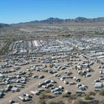 Rocks, gems and minerals of all kinds and colors are on display at the Quartzsite shows in January and February.
