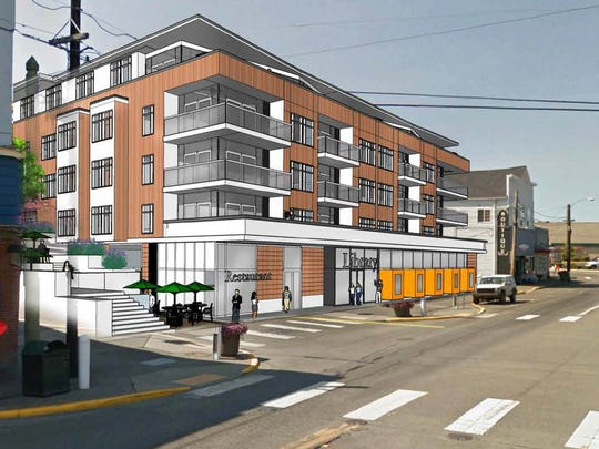 Rendering shows plans for a new structure at 640 Bay