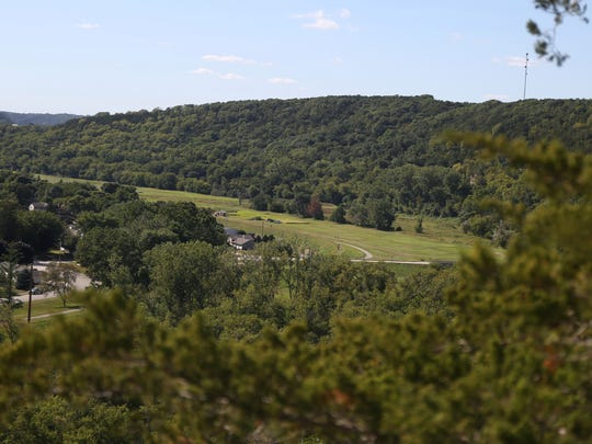 Overlooking scenic Decorah from Palisades Park in Northeast Iowa on Tuesday, Aug. 25, 2015.