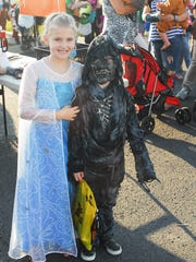 Hailey and Jason Whiticker at Trunk or Treat in 2014.