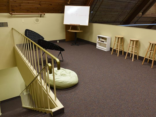 The loft area for older students to study at new Calvary Classic Academy, which will open this fall at the Calvary Community Church.