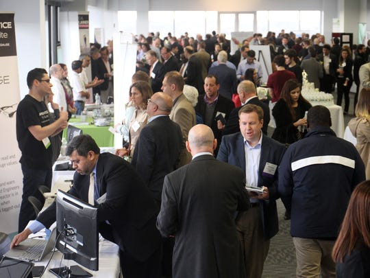 Investors and entrepreneurs meet at the Venture Conference hosted by the New Jersey Tech Council Tuesday in Woodbridge.