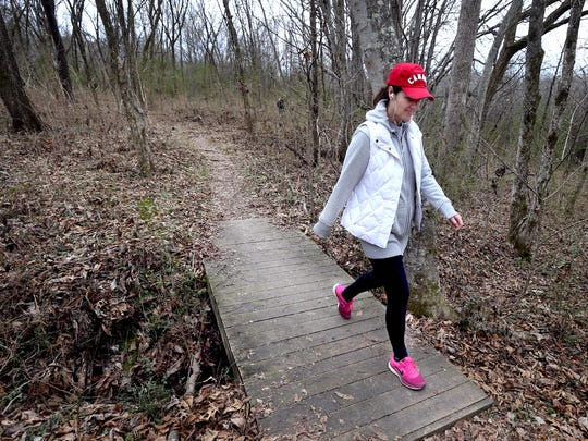 Hiking  trails at Barfield Crescent Park are part of