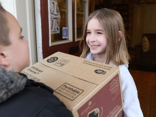 Audrey Nelson, 8, of Penfield sold 757 boxes of Girl