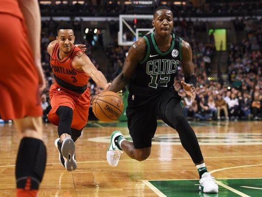 Feb 4, 2018; Boston, MA, USA; Boston Celtics guard