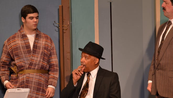 """Fremont mayoral candidate Dallas Leake appeared in the Fremont Community Theatre's production of """"Gypsy"""" May 3. He joined fellow Fremont mayoral candidates Jim Ellis and Danny Sanchez in portraying Mr. Goldstone in the production."""