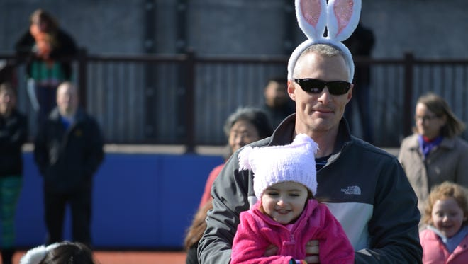 The Hudson Valley Renegades held the seventh annual Renegades Easter Egg Hunt on Saturday at Dutchess Stadium in Fishkill. The event attracted over 1,000 attendees and the Renegades gave out more than 3,000 Easter eggs to children.