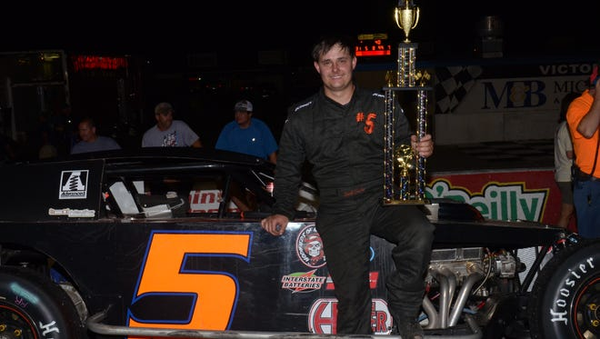 Donald Crocker picked up his second Outlaw Stocks win of the year at Five Flags Speedway over the weekend.
