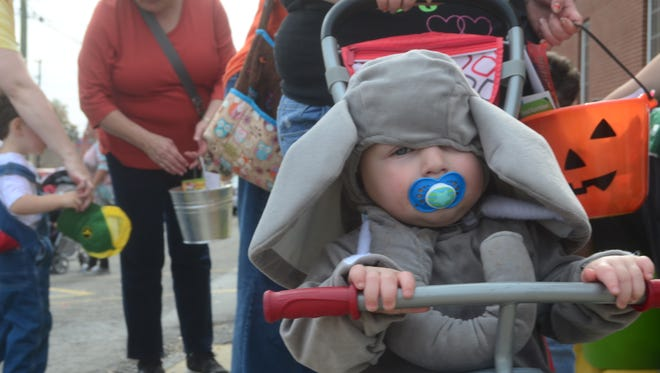 Gallatin's downtown merchants welcomed superheroes, farmers and other costumed kids for Gallatin's annual Trick or Treat on the Square Monday, Oct. 31, 2016