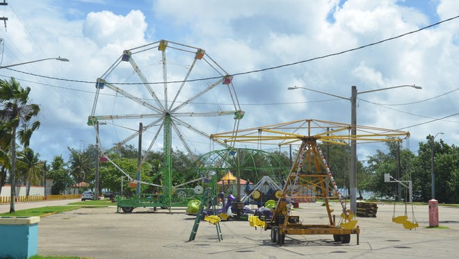 Carnival rides could be seen at the parking lot of the Paseo de Susana in Hagåtña on June 26, 2017.
