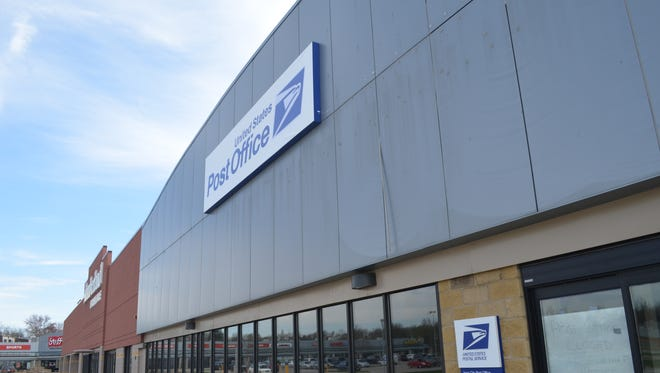 A post office in Iowa City is pictured Tuesday at Pepperwood Plaza along Highway 6 E.