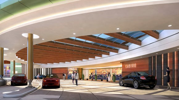 Rendering of the Tohono O'odham casino going up near