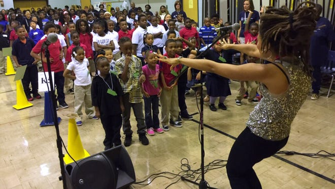 Valerie June, a singer-songwriter based in Brooklyn, N.Y., is one of four artists that have been paired with four low-performing schools in Milwaukee as part of Turnaround Arts, a federal initiative created by President Barack Obama and First Lady Michelle Obama.