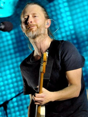 Thom Yorke of Radiohead performs live on stage at 02 Arena on October 8, 2012 in London, England.