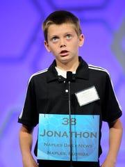 Jonathon Schafer, 13, of Naples, Fla. misspells his
