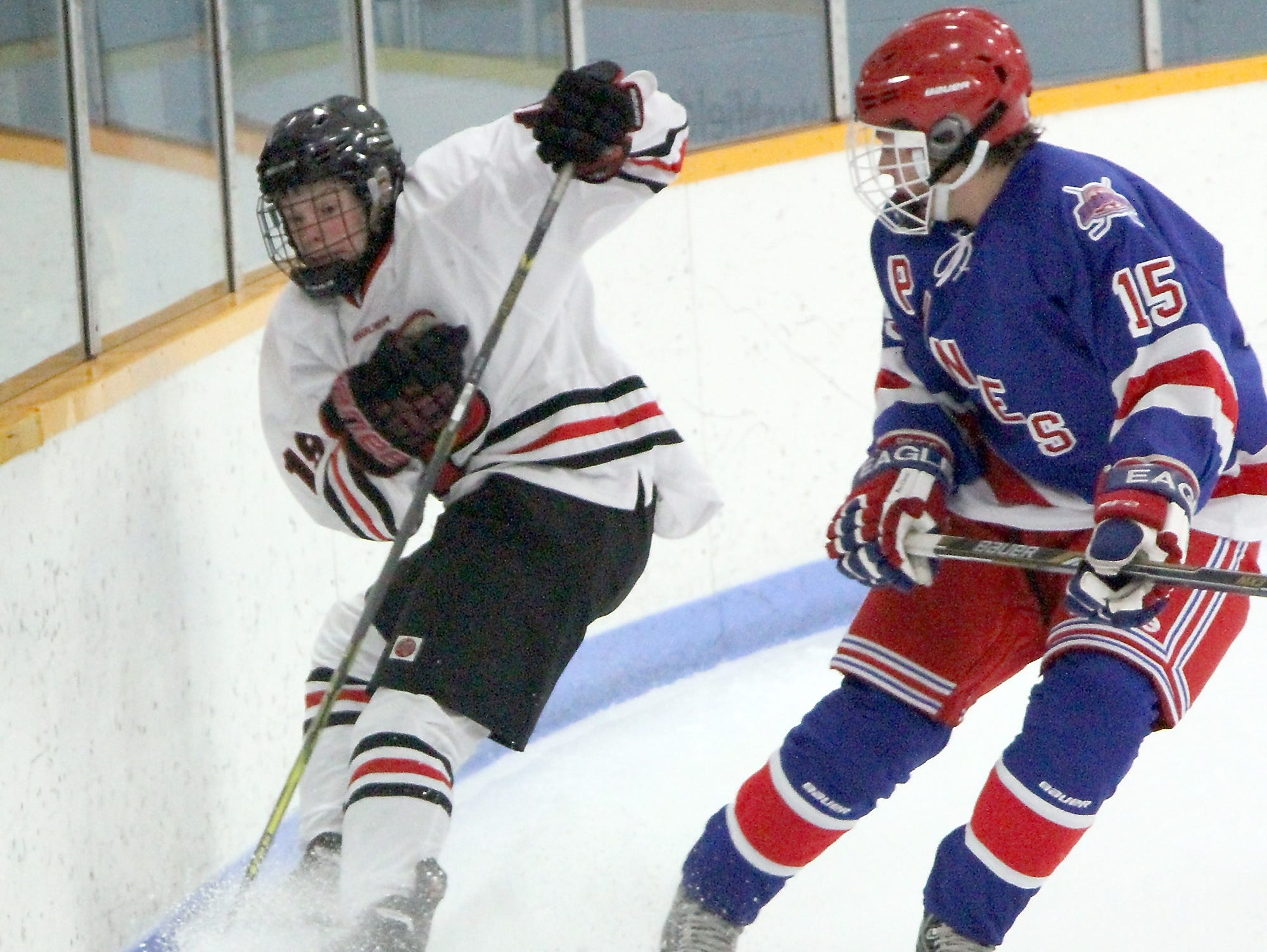 Brock Caufield, left, leads a SPASH team that its top three scorers this year