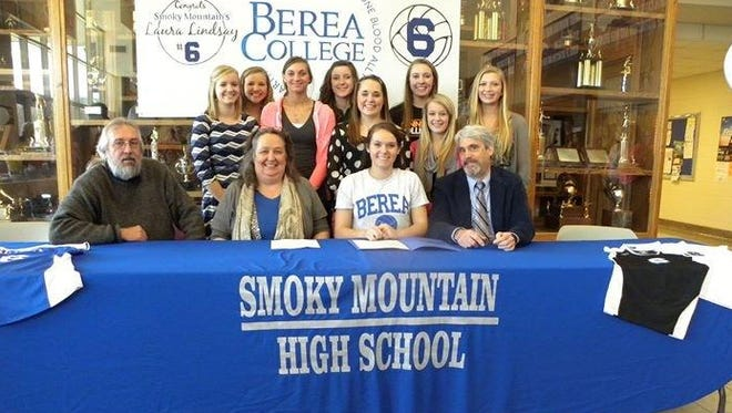 Smoky Mountain senior Laura Lindsay has signed to play college volleyball for Berea (Ky.).