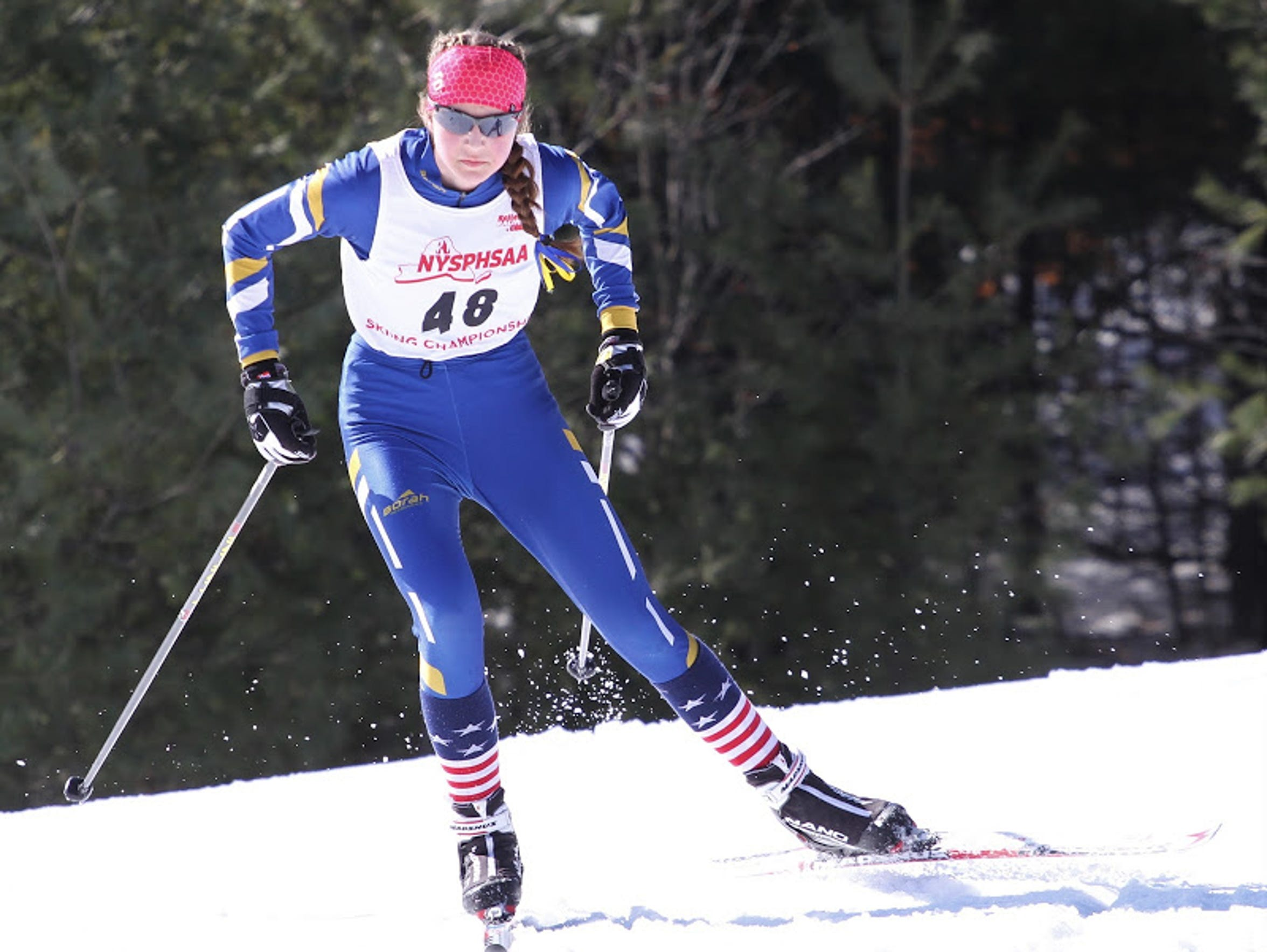 Grace Mattern of Brighton at the state Nordic skiing