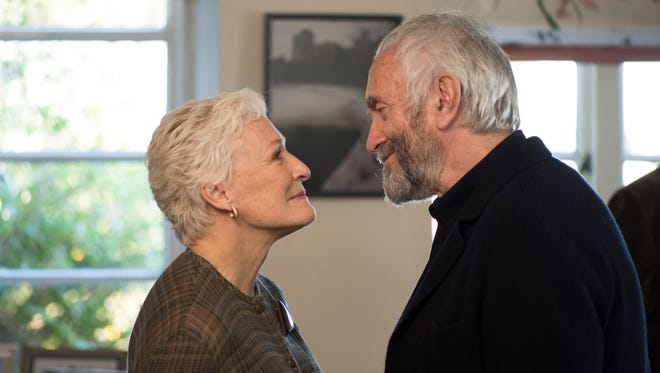 "In ""The Wife,"" Joan (Glenn Close) and Joe (Jonathan Pryce) celebrate his Nobel Prize win."