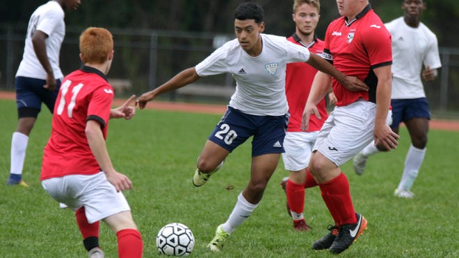 Coventry boys soccer, seen here in white shorts playing Shea in 2018, was one of five high school teams that was granted funding by the town's School Committee on Thursday night so they could compete in RIIL play this fall.