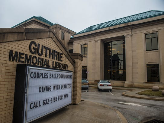 Hanover's Guthrie Memorial Library, photographed on