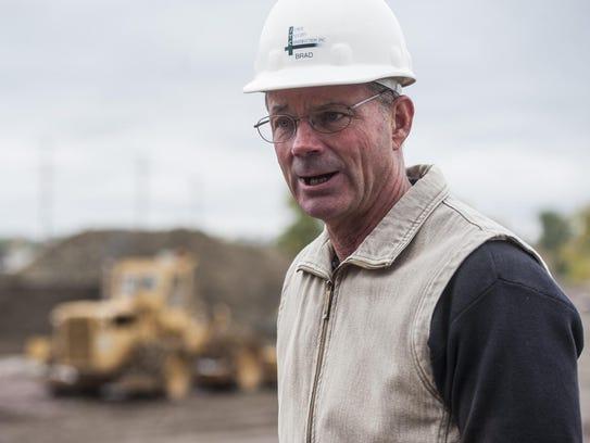 Developer Brad Talcott discusses construction plans