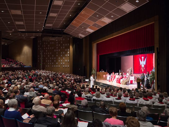 About 750 people attended Kevin Brown's ordination and consecration ceremony as the 11th bishop of the Episcopal Diocese of Delaware on Saturday at Delaware State University.