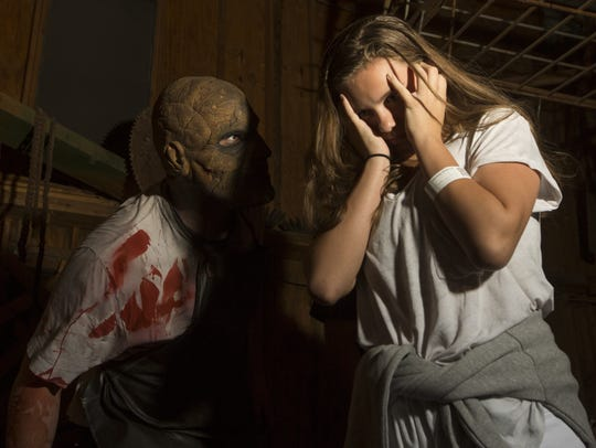 Visitors brave the frights at the Fear Farm Haunted