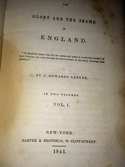 """First page of """"The Glory and The Shame of England."""""""
