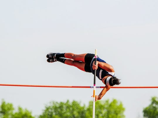 GREG HOLDER   GAMETIMEPA.COM Sammi Lowery of Chambersburg is one of 12 local athletes that will compete in the PIAA Track & Field Championships on Friday and Saturday. She is seeded 19th in the pole vault.