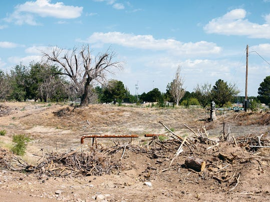 Ground is cleared in preparation for the construction of a new in-fill project to include a medical campus; retail and dining; residential and multifamily housing; and parks, walking trails and open space.
