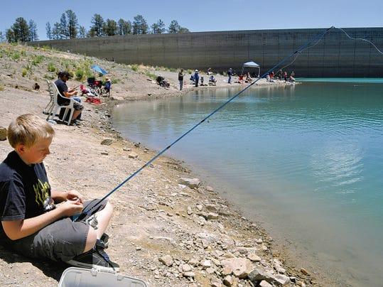A young fisherman at Grindstone Lake.