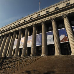 File photo taken in 2012 shows the James A. Farley post office in Manhattan, one of New York City's main mail processing centers.