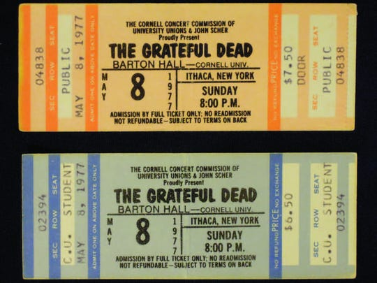 Cornell '77 tickets for The Grateful Dead.