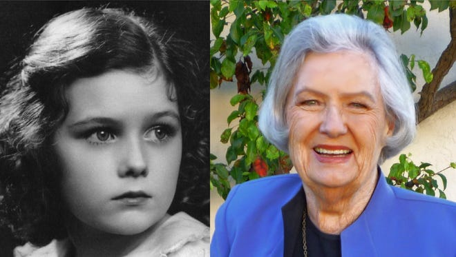 Marilyn Knowlden age 7 years old and today.