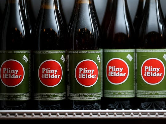 Russian River Brewing makes a 100-IBU double India pale ale called Pliny The Elder IPA. The beer uses Amarillo, Centennial, CTZ and Simcoe hops. It's the top IPA choice in California.