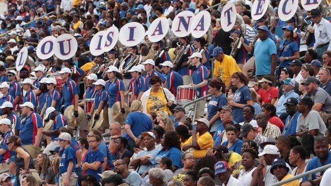 Louisiana Tech Bulldogs and the Southern Jaguars meet in football action at Joe Aillet Stadium in Ruston on Saturday.