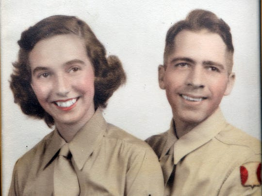 Gardner Watts is pictured in this photo from 1944 with his wife Josephine.