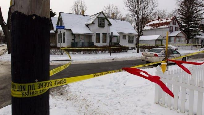 The scene of a fatal stabbing near the corner of North and Kosciusko streets in Rochester.